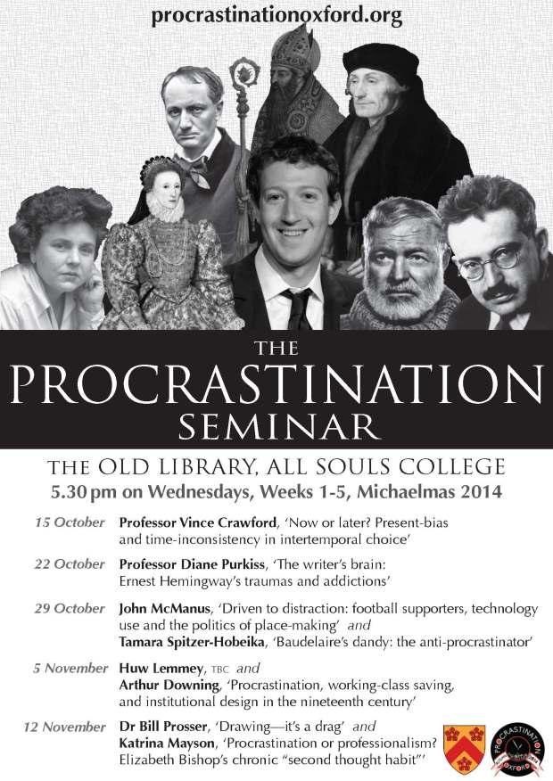 Procrastination Seminar MT2014 small