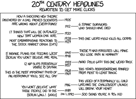 'Lists mean likes!' —XKCD